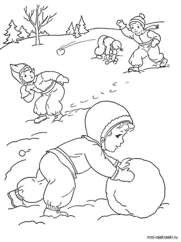 Все игры раскраски зимы