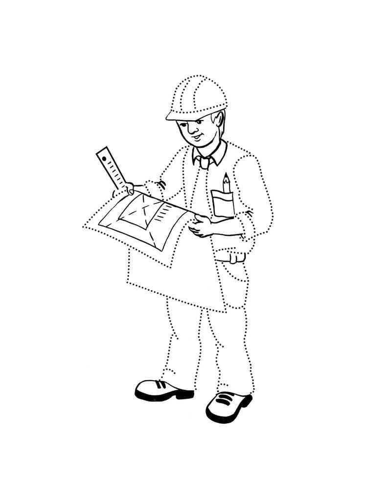 Раскраски Архитектор - распечатать в формате А4