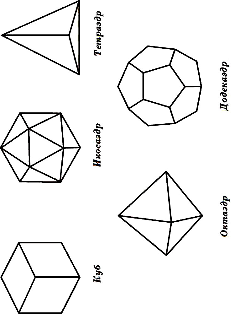 Раскраски Геометрические фигуры - распечатать в формате А4