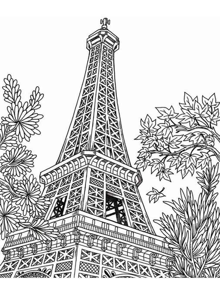 Раскраски Париж. Скачать и распечатать раскраски Париж.