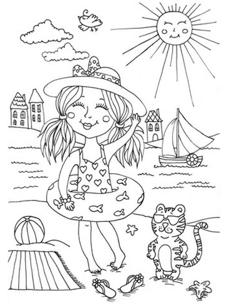 Картинки разукрашка лето