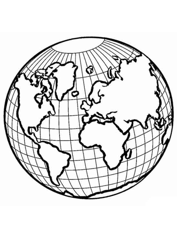 Глобус раскраска нашей планеты