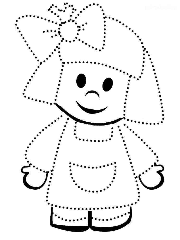 Раскраски по точкам - распечатать в формате А4