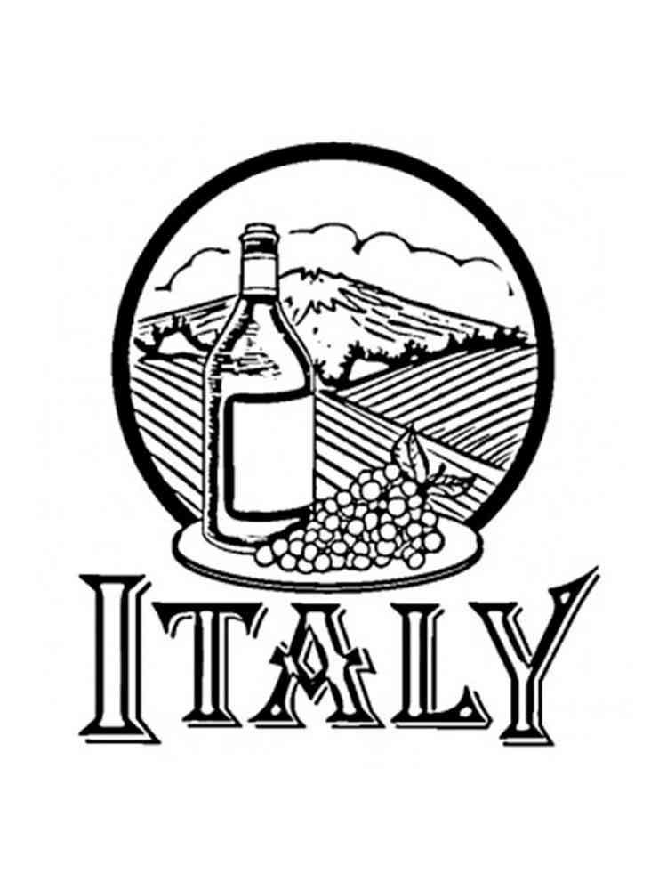 Раскраски Италия - распечатать в формате А4