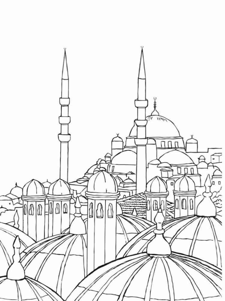раскраска мечеть грозного уже только