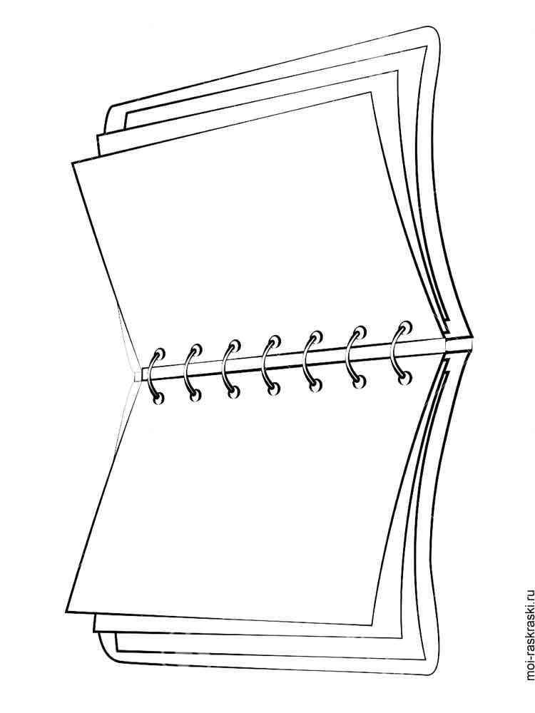 Раскраска Тетрадь - распечатать в формате А4