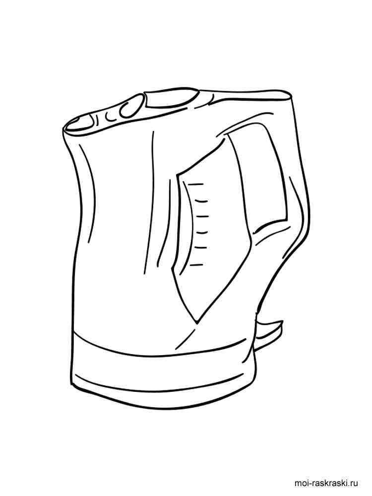 Раскраска Чайник - распечатать в формате А4