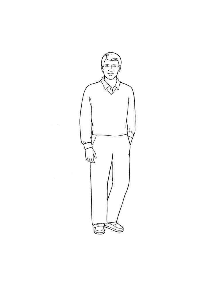 Раскраска Человек - распечатать в формате А4