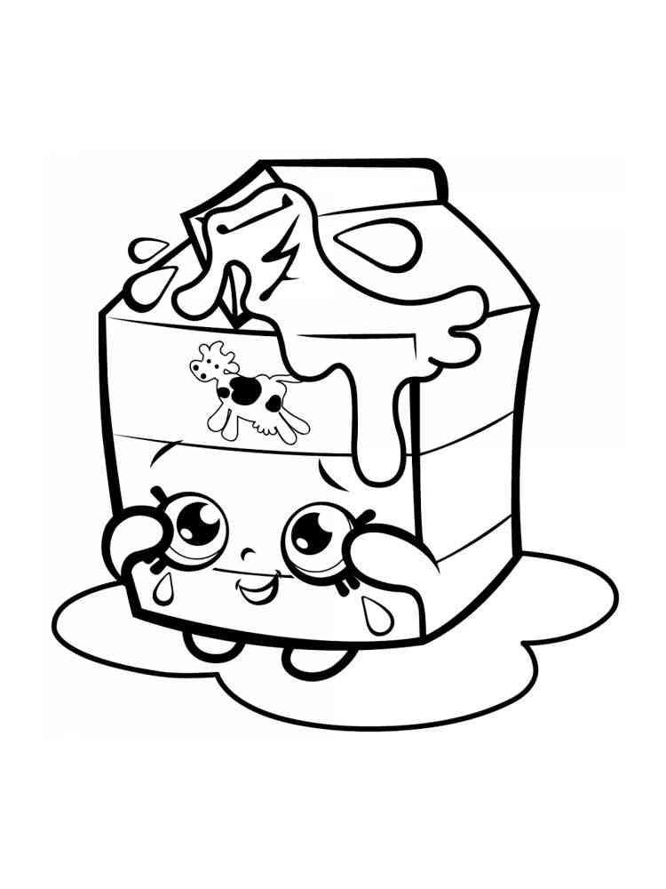 Раскраски Еда с глазами - распечатать в формате А4