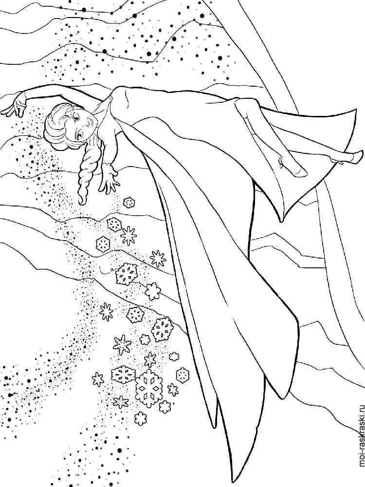 Раскраска Эльза - распечатать в формате А4
