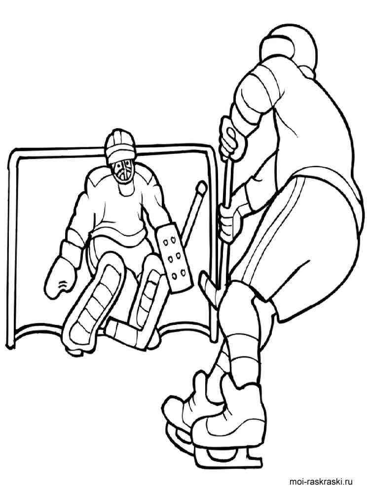 раскраска хоккей скачать и распечатать раскраски хоккей