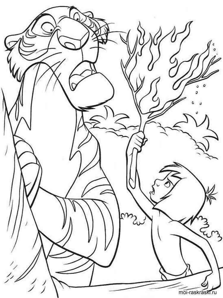 Раскраска Маугли - распечатать в формате А4