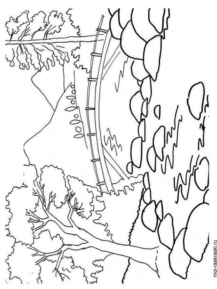 раскраска пейзаж скачать и распечатать раскраски пейзаж