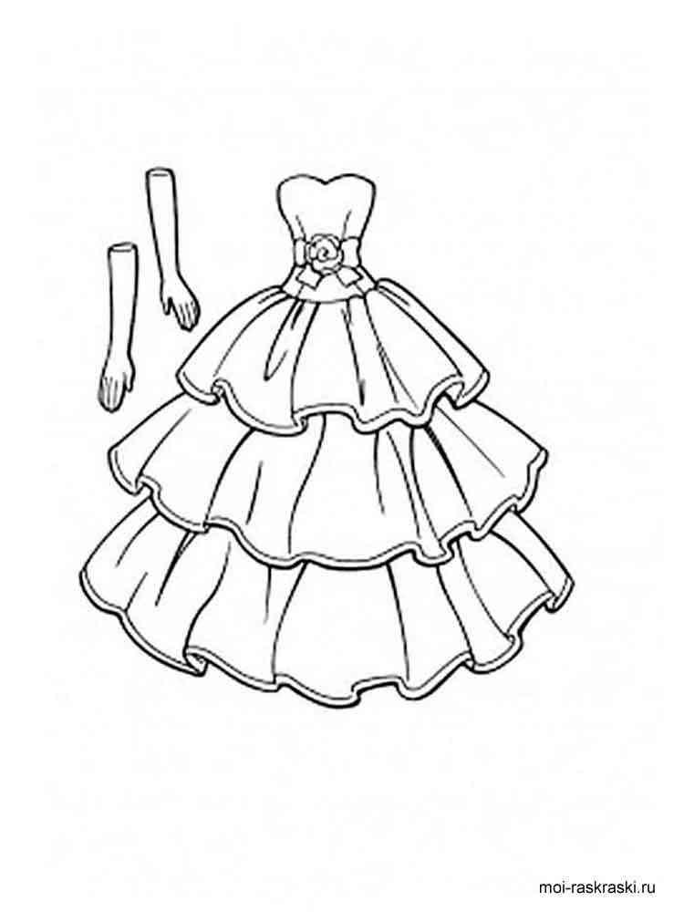 Платья для принцесс раскраски