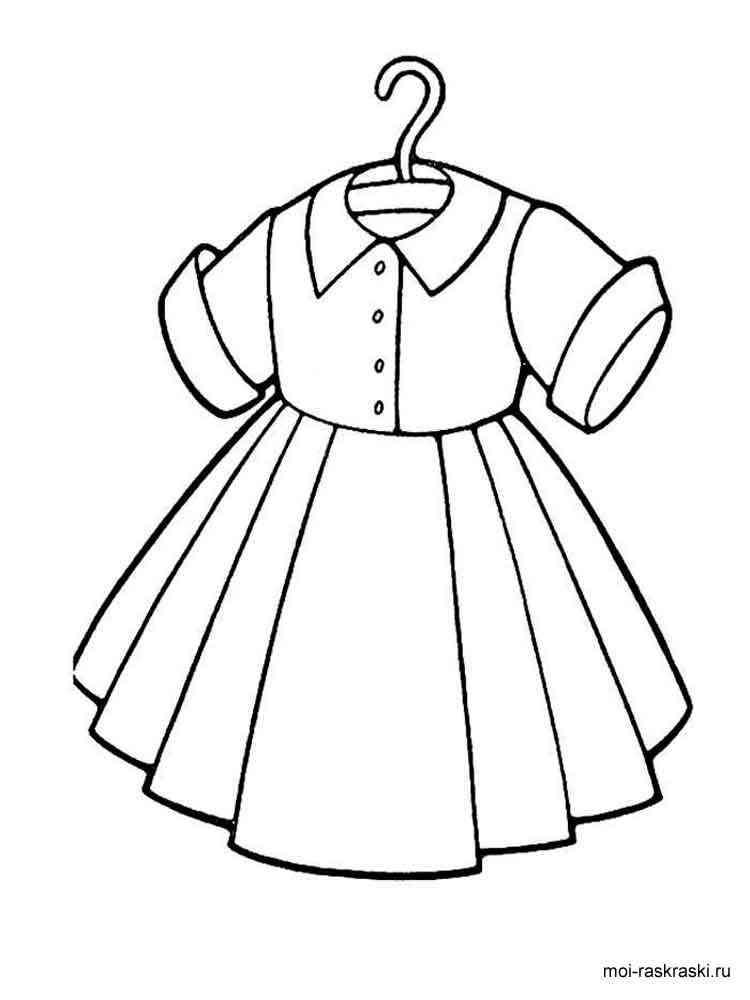 раскраска платья скачать и распечатать раскраски платья