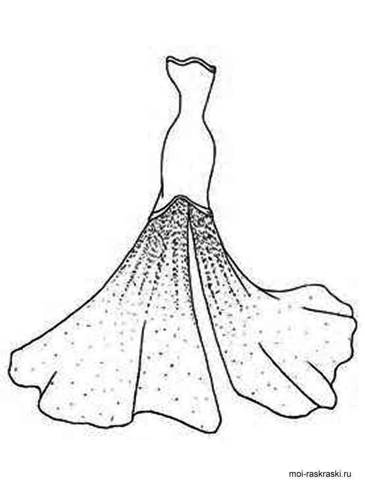 Картинки из раскрасок платья