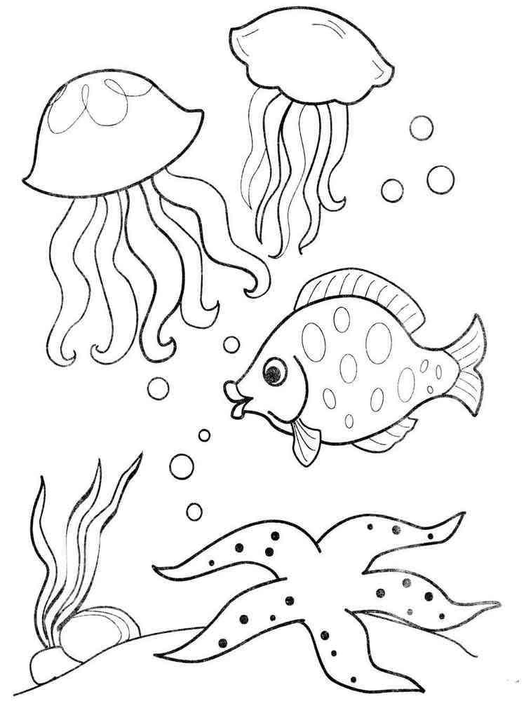 Картинки подводного мира нарисованные карандашом