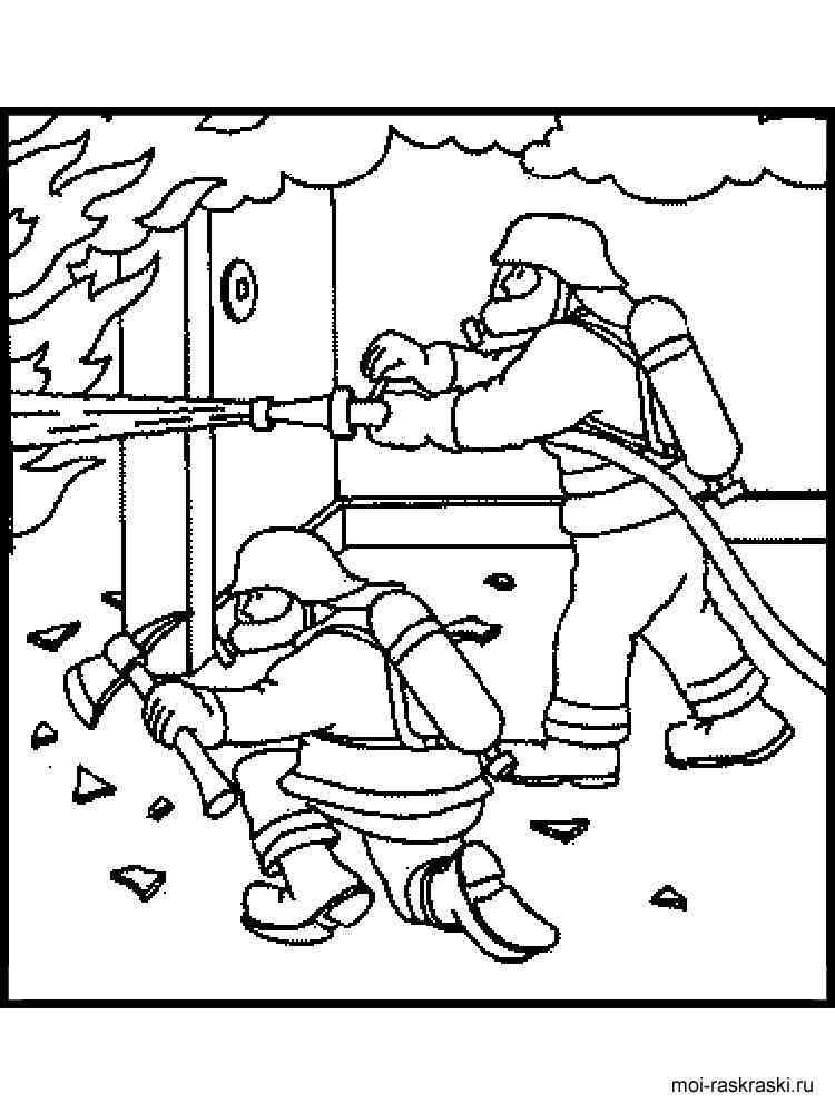 раскраска пожарный скачать и распечатать раскраски пожарный