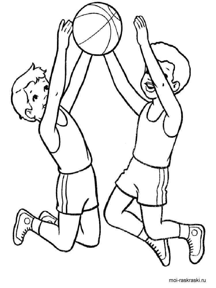 Раскраска спорт для детей