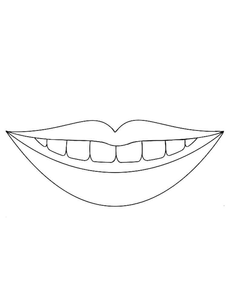 Картинка раскраска улыбки