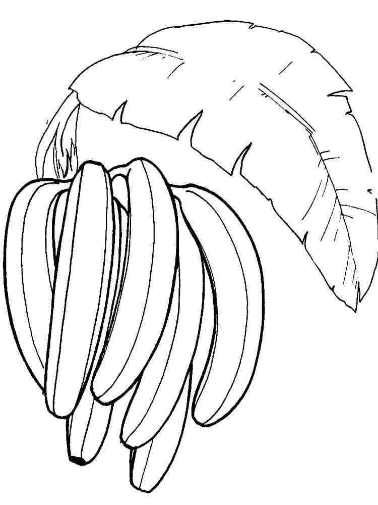 Раскраска миньоны банан