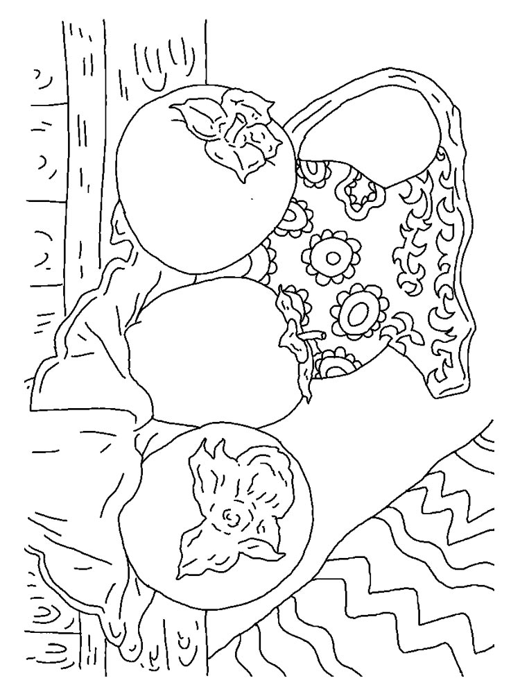 Раскраска Хурма - распечатать в формате А4