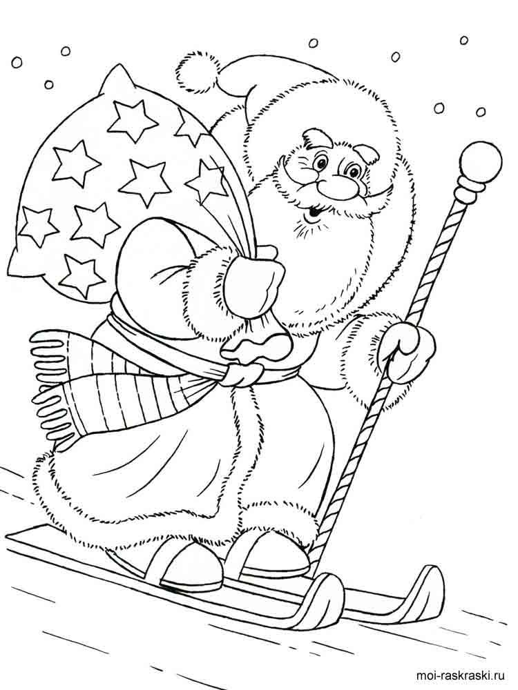 Раскраски на тему дед мороз