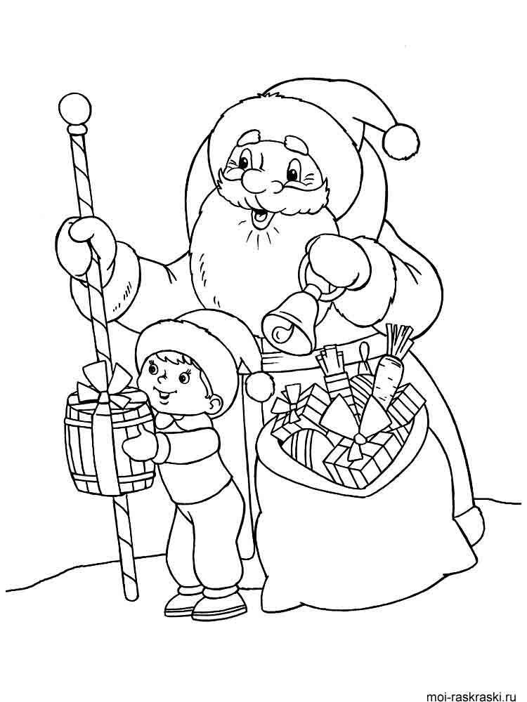 Первоклассные стиляги, картинки карандашом на новый год дед мороз