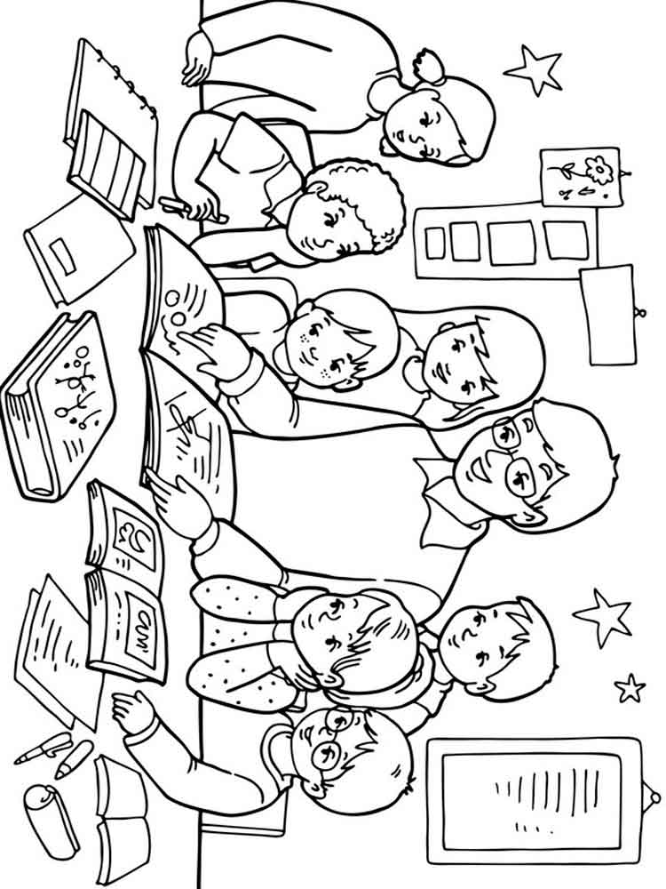 Раскраски ко дню учителя