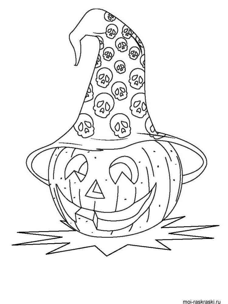 Раскраски Хэллоуин - распечатать в формате А4