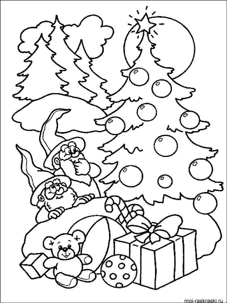 Как распечатать раскраски про новый год