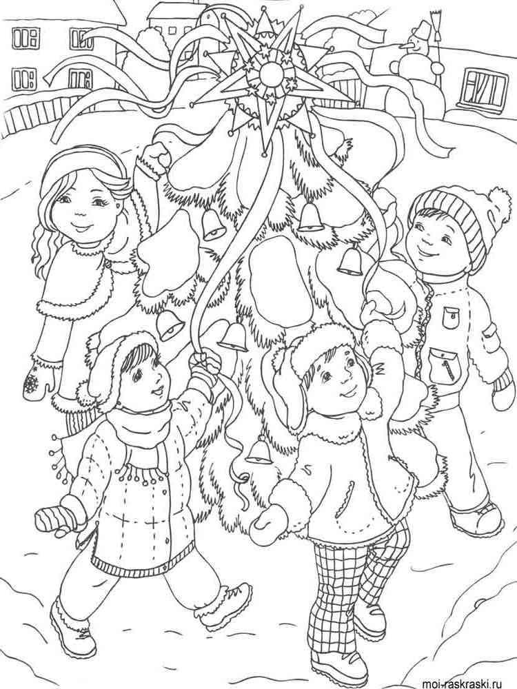Скачать раскраски к рождеству