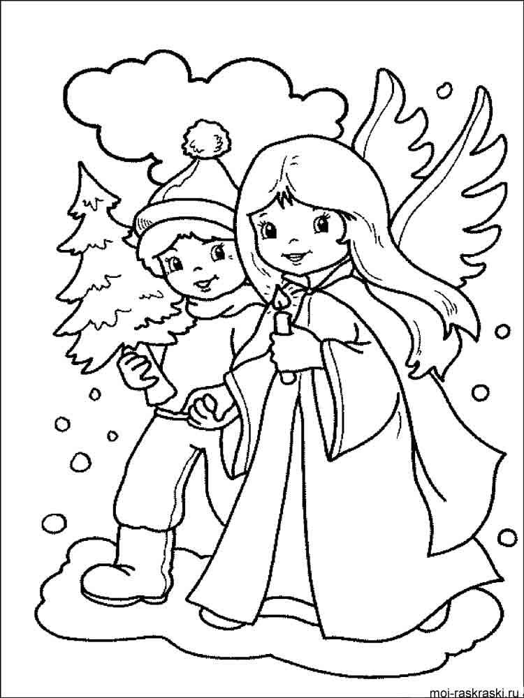 Детские раскраски к рождеству