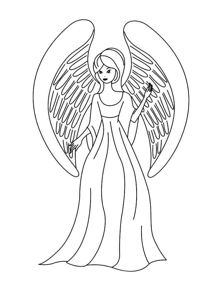 Картинки для распечатки ангелов