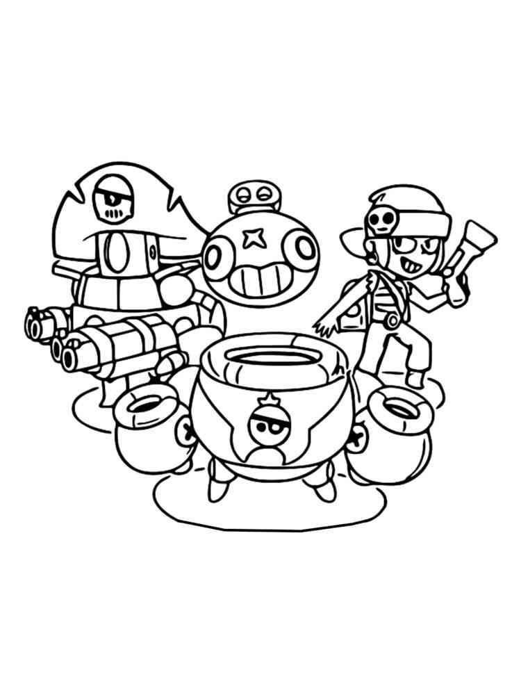 Раскраски Тик Браво Старс - распечатать в формате А4