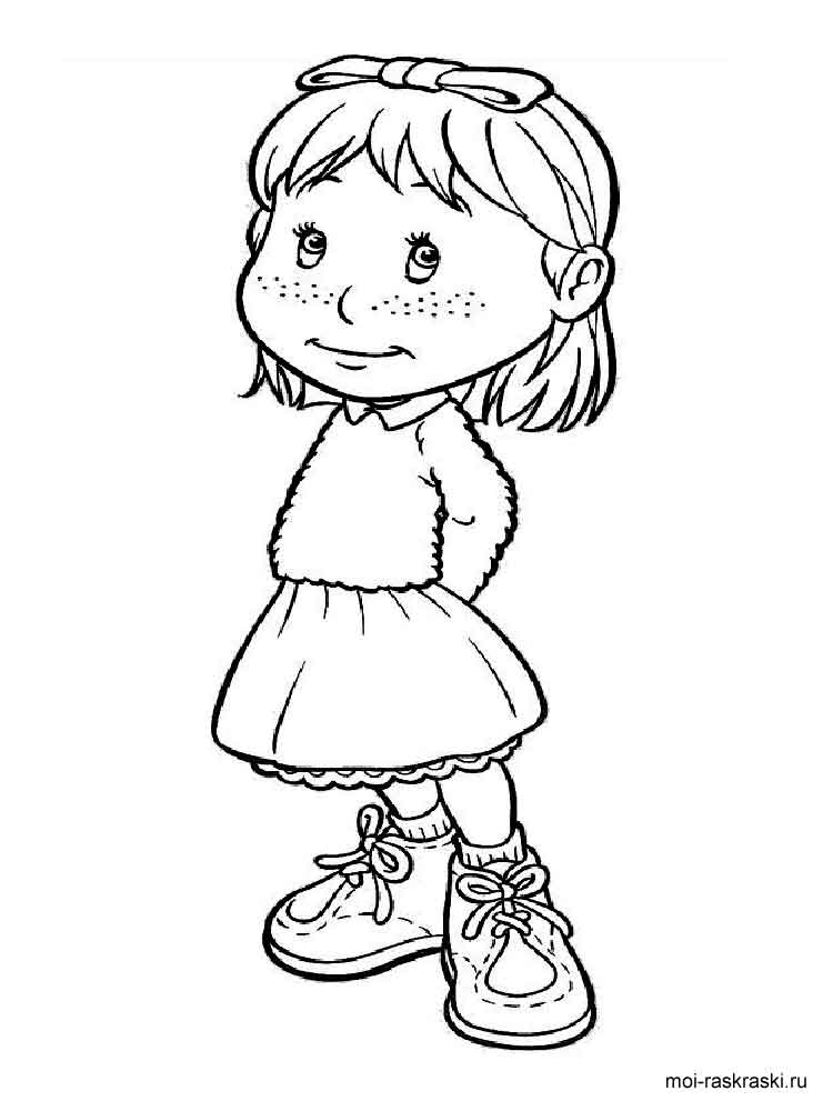 Раскраски Картинки Девочек