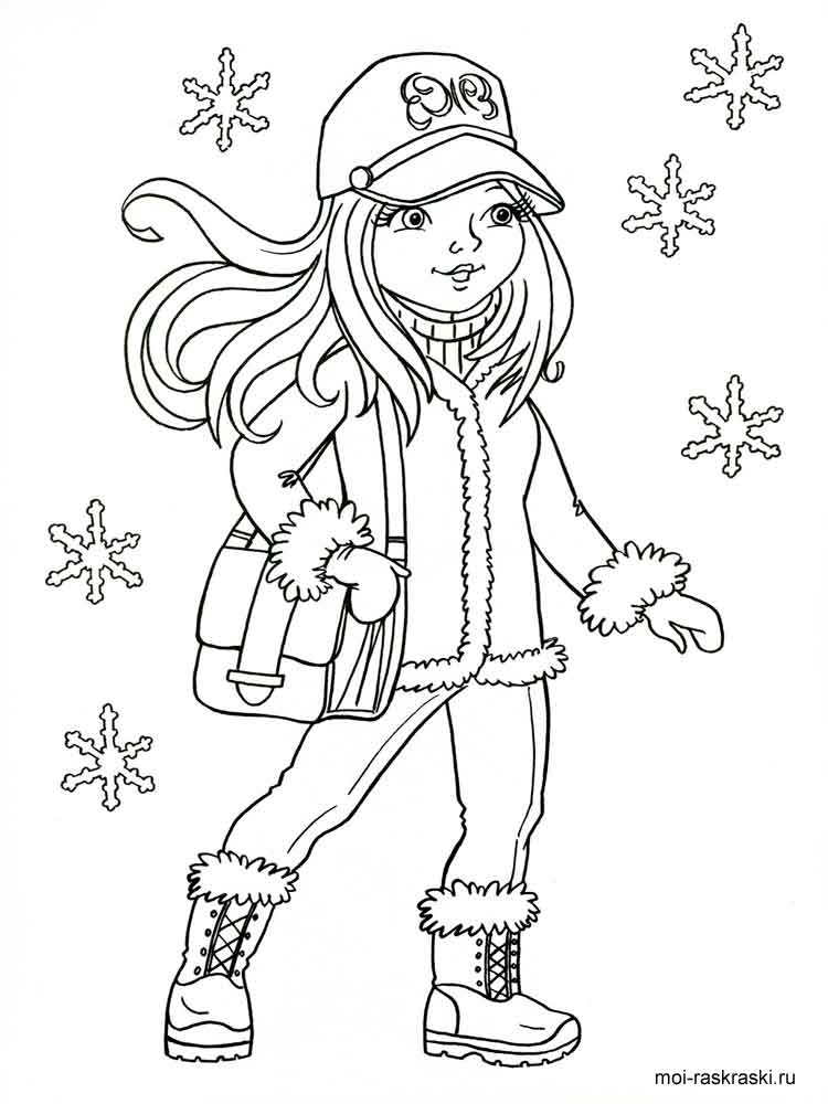 Картинка девочки раскраска