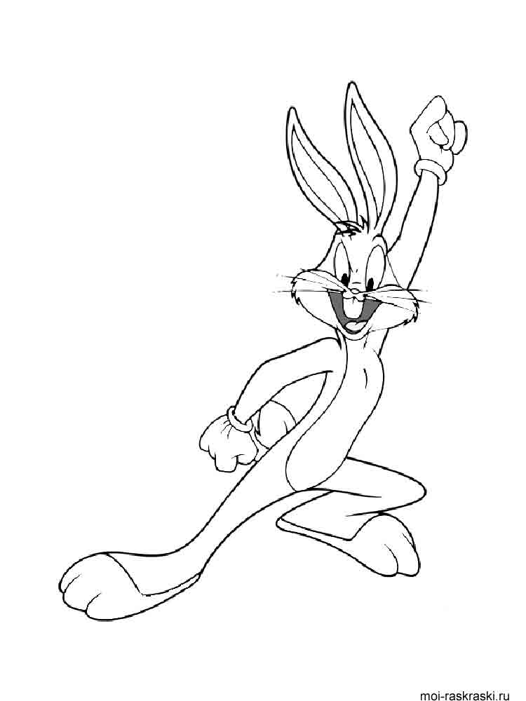 Printable Bugs Bunny Coloring Pages  Printable Coloring