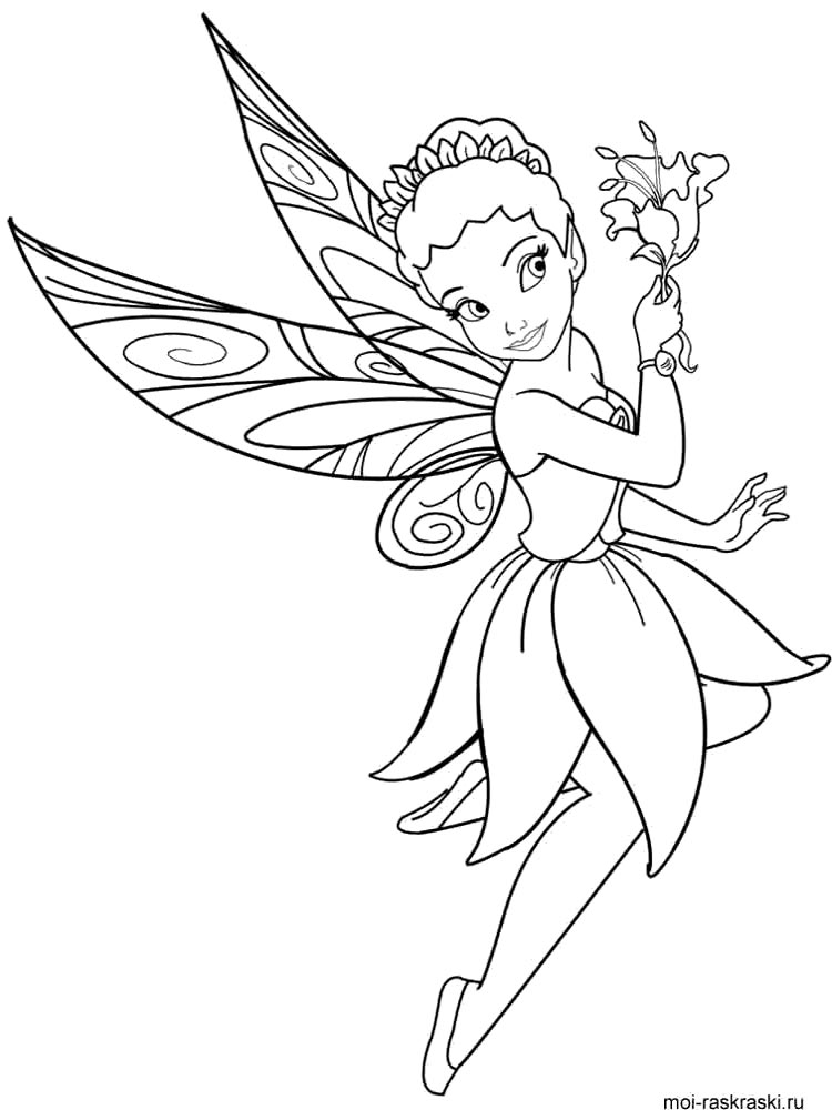 fairy butterfly coloring pages -
