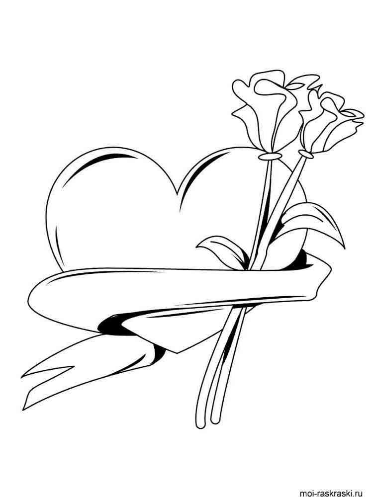 раскраски сердечки скачать и распечатать раскраски сердечки