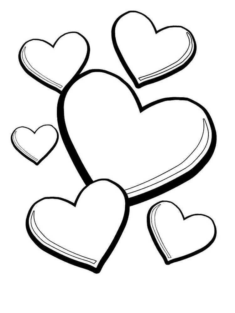 Раскраска сердечко - 6