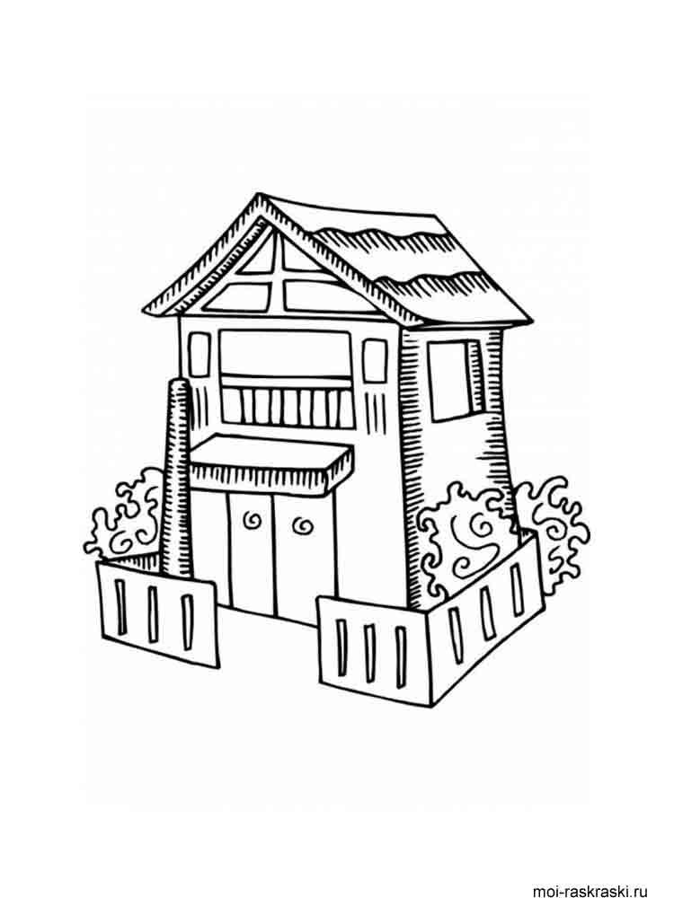 Раскраска домик в картинках 80