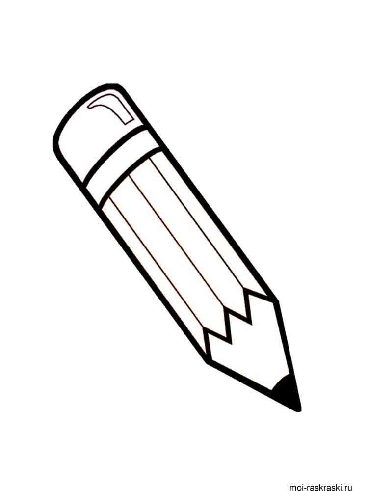 картинка карандаш раскраска