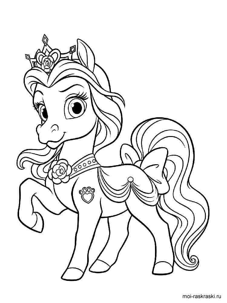 Раскраска королевские лошадки