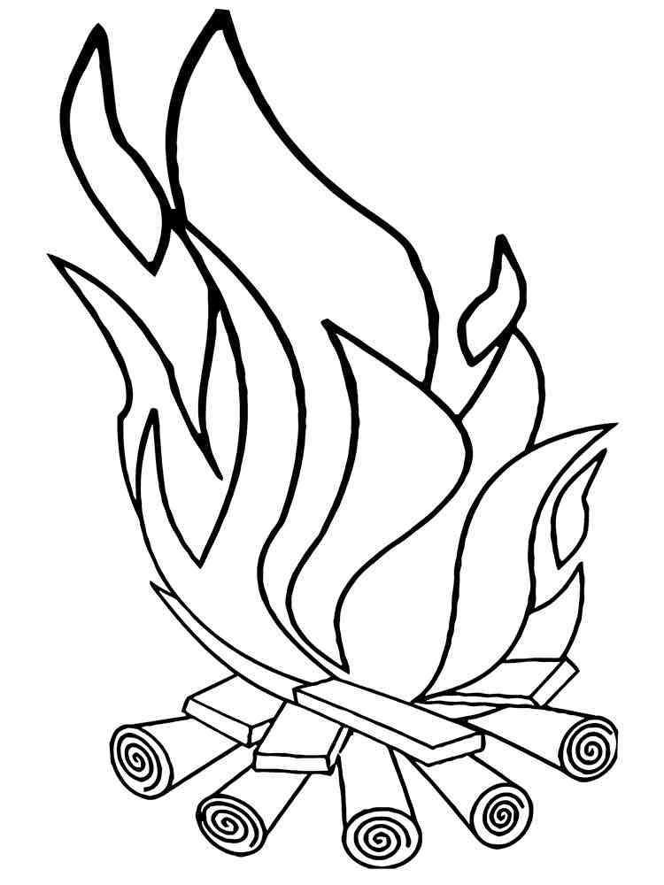 Раскраска пламя огня картинки