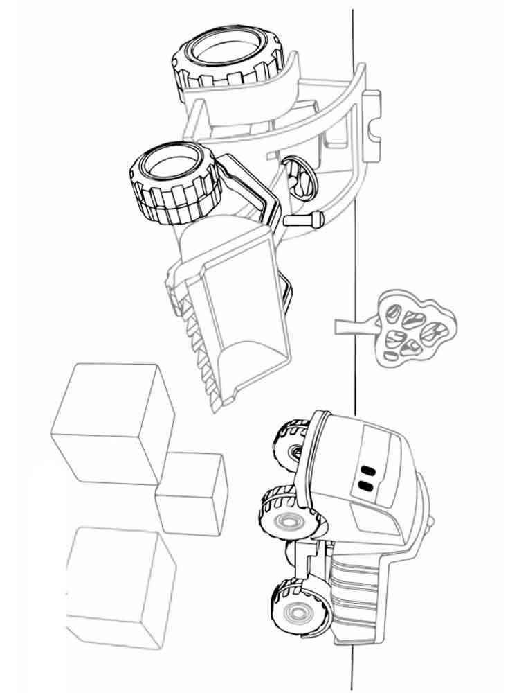 Раскраски Грузовичок Лева - распечатать в формате А4