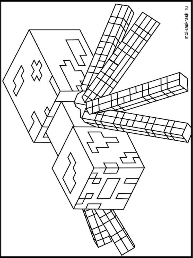Раскраски Майнкрафт - распечатать в формате А4