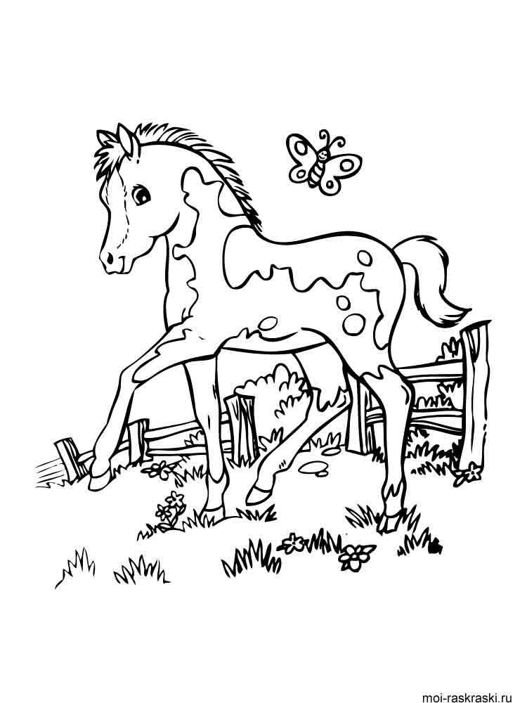 Horse pictures to color and print for kids