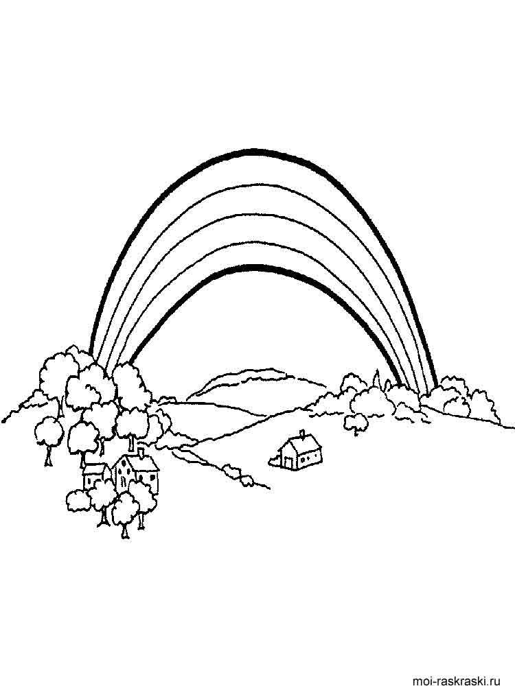 Раскраски радуга для детей - 2