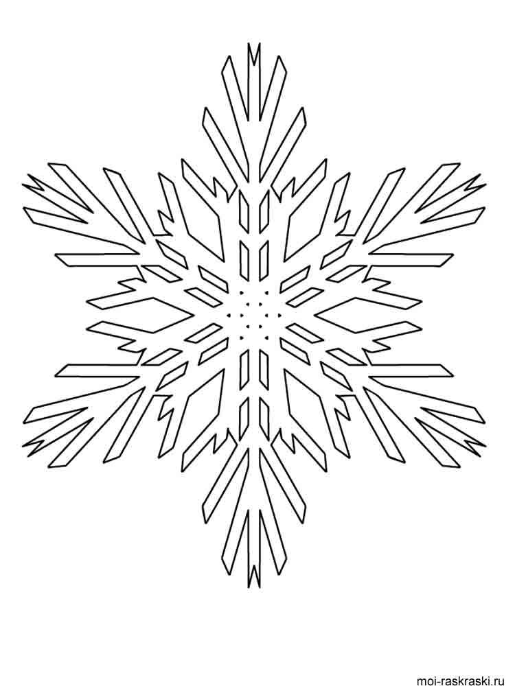 Напечатать раскраска снежинка